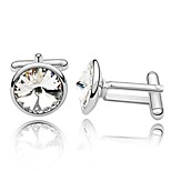 Thousands of colors Cufflinks 1 pairSolid Silver Fashionable Cufflink Men's Jewelry