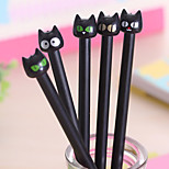 Lovely Black Cat Neutral Pen(1PC)