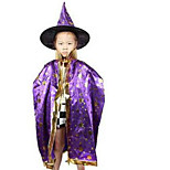 Cloak Witch Halloween Children Show Clothing Six Star Cloak Wizard Cloak Color Random