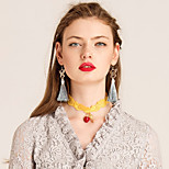 YIGELILA Necklace Choker Necklaces Jewelry Daily Fashion Alloy Yellow 1pc Gift-X073