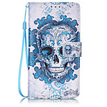 Skull Pattern PU Leather Lanyard phone Case For HuaWei P9 lite