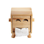 1PC Pattern Automobile Office Bedroom Drawing Room Restaurant Slap-Up  European  Face Towel Paper Carton