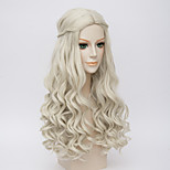 Alice in Wonderland Movice White Queen Cosplay Halloween Natural Centre Parting Wave Costume Wig Anne Hathaway's Wigs