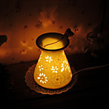 1pc cerámica artesanal hueco hacia fuera enchufado a la electricidad lámpara de la fragancia aceites esenciales