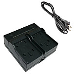 VBK180 Digital Camera Battery Dual Charger for Panasonic VBK180 VBK360 VBT190 VBY100 HC-V110 V210 V520 V720 GK