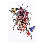 1pc Women Men Body Art Temporary Tattoo Horrible Blood Flower Butterfly Style Design Tattoo Sticker HB-317