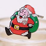 1PCS Santa Claus Flashing Brooch Christmas Decorations Badge