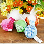 Cat Toy Pet Toys Interactive / Feather Toy Candy Color Textile Random Color