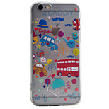 Para Funda iPhone 6 / Funda iPhone 6 Plus / Funda iPhone 5 Transparente / Diseños Funda Cubierta Trasera Funda Dibujos Suave TPU Apple