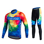 Miloto® Cycling Jersey with Tights Women's / Men's / Unisex Long Sleeve BikeBreathable / Quick Dry / Moisture Permeability / 3D Pad /