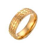 Ring Punk Steel Circle Gold Silver Jewelry For Daily 1pc