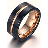 Rock Gothic Tungsten Steel Rose Gold Man Ring Restoring Ancient Ways
