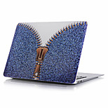 Dark Blue Zipper Jeans Pattern Computer Shell For MacBook Air11/13   Pro13/15   Pro with Retina13/15   MacBook12