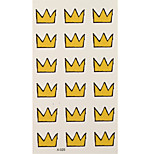 1pc Colorful Waterproof Tattoo 18 Yellow Crowns Small Temporary Tattoo Sticker 10.5*6cm