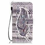 Feathers Pattern Perspective Shiny Glare Material PU Leather Card Holder for  iPhone 7 7 Plus 6s 6 Plus SE 5s 5