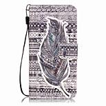 Cuerpo Completo Soporte de Tarjeta / Diseño Plumas Cuero Sintético Duro Cubierta del caso para AppleiPhone 7 Plus / iPhone 7 / iPhone 6s