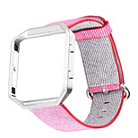 Sports Woven Nylon Watch BandColorful Metal Frame 2 in 1 Watch Case Band for Fitbit Blaze