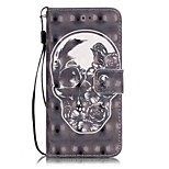 Para Funda iPhone 7 / Funda iPhone 7 Plus / Funda iPhone 6 Soporte de Coche / Diseños Funda Cuerpo Entero Funda Calavera DuraCuero