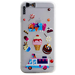 Ice Cream Pattern Simple Matte Material TPU Phone Case For iPhone 6s 6 Plus SE 5s 5