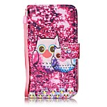 Owl Painted PU Leather Material of the Card Holder Phone Case for iPhone 7 7plus 6S 6plus SE 5S