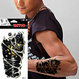 5Pcs Mens Fashion 3D Mechanical Pattern Simulation Temporary Paper Tattoo Sticker Cool Arm Art Waterproof Tattoo