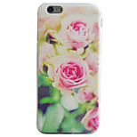 Pink Flowers Pattern Material TPU Phone Case For iPhone 7 7 Plus 6s 6 Plus SE 5s 5