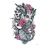 1pc Nontoxic Skull Bird Beauty Girl Flower Arm Body Art Tattoo Temporary Women Men Tattoo Sticker Party Beach HB-279