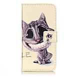 General Purse / Flip To Support Smile Cat PU Leather Flip Mobile Phone Shell for iPhone 7 / 7 Plus