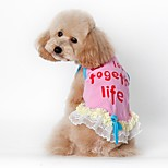 Katzen / Hunde Kostüme / T-shirt / Weste Blau / Rosa Hundekleidung Sommer / Frühling/Herbsteinfarbig / Buchstabe & Nummer / Britsh /