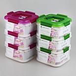 tres capas de marca yooyee (0.68l * 3) cajas de almacenamiento hermético forma cuadrada con mango