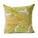 Nordic Art Autumn Leaves Cotton Pillow Cushion Covers