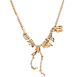 Europe Fashion Jewelry Gothic Tyrannosaurus Rex Skeleton Dinosaur Pendant Necklace Gold Chain Choker Necklace For Women
