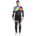 Bike/Cycling Clothing Sets/Suits Men's Long Sleeve Breathable / Quick Dry / Comfortable Fleece Classic Green MExercise