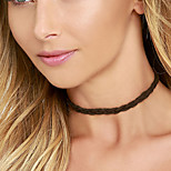 Necklace Choker Necklaces Jewelry Fabric Daily / Casual Black / White Tassels / Fashionable Gift