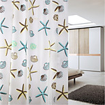 180*200cm Elegant Style  Design Waterproof Bathroom Fabric Shower Curtain