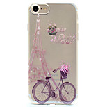 For Pattern Case Back Cover Case Eiffel Tower Soft TPU for Apple iPhone 7 Plus iPhone 7 iPhone 6s Plus/6 Plus iPhone 6s/6