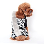 Cute Steppe Style Zebra-Stripe/ Leopard Costume Coat with Hoodie for Pets Dogs (Assorted Colours and Sizes)
