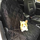 Cat / Dog Car Seat Cover Pet Mats & Pads Waterproof / Portable / Soft Black / Brown Plush