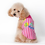Cat / Dog Vest Blue / Pink Dog Clothes Summer Sailor Casual/Daily / Sports