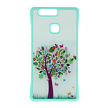 Colored Trees Pattern Metal Plate Inlay TPU Back Case For Huawei P9 P9 Plus  P9 Lite