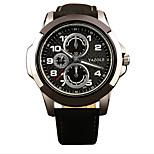 350 YAZOLE Fashion Men's Business Sport Watch Leather Strap Blue Ray Glass Noctilucent Analog Quartz Wrist Watches