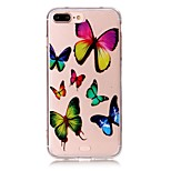 Butterfly Pattern Material Acrylic  TPU Phone Case For iPhone 7 7Plus 6S 6Plus SE 5S 5