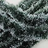 Christmas Gifts Decoration Green White Ribbon Garland Tops Madder Christmas Tree Ornaments