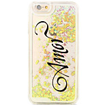 Flowing Quicksand Liquid/Pattern Word/Phrase PC Hard Case For Apple iPhone 6s Plus/6 Plus/iPhone 6s/6/iPhone 5/5s/SE