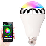 HRY E27 Bluetooth Control Smart Music Audio Speaker LED RGB Color Bulb Light Lamps(AC85-265V)