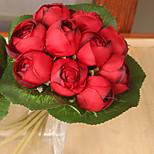 Hi-Q 1Pc Decorative Flower Dew Lotus Wedding Home Table Decoration Artificial Flowers Bride Holding Flowers