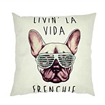 Trade European And American Style Hot Dog Sofa Cushion Glasses English Pattern Cotton Pillow