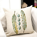 Hand-Painted Feather Stone Theatrical Cotton Pillow Cushion Covers
