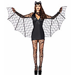 Costumes Angel & Devil Halloween Black Solid Terylene Dress / More Accessories
