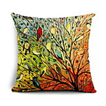 Nordic Birds Canvas Cotton Pillow Cover Cushion Sofa Cushion Car Office
